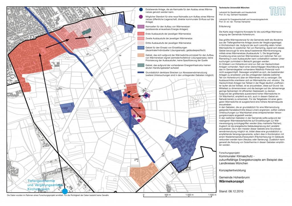 Karte 4   Entwurf euner zukünftigen Wärmeversorgung in Hohenbrunn